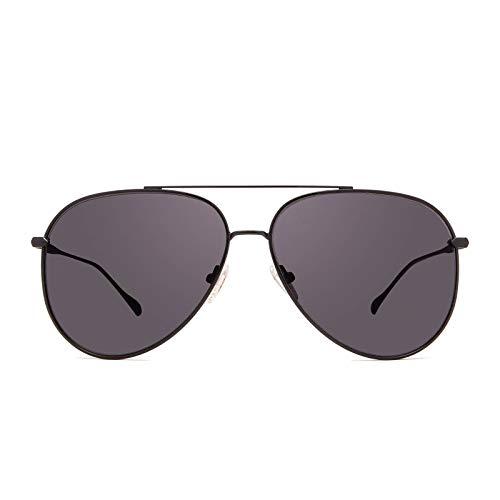 DIFF Eyewear - Nala - Designer Aviator Sunglasses for Men & Women - 100% UVA/UVB (Becca Kufrin Black + Dark Smoke)