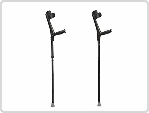 Unterarmgehstützen Gehhilfen Krücken faltbar 1 Paar (links und rechts) Leichtmetall Farbe: schwarz *Top-Qualität*