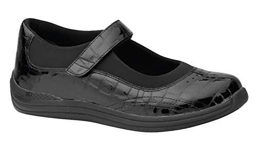 Drew Rose Woman Black/Croc Leather 10.5 Medium (B) US