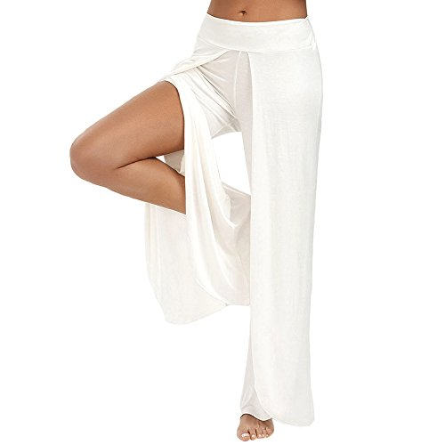 white pants with split - 8