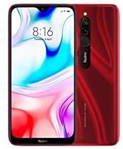 هاتف شاومي ريدمي 8 بذاكرة رام 3 جيجا وسعة تخزين داخلية 32 جيجا، لون احمر ياقوتي