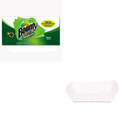 KITBWK30LAG500PAG34884 - Value Kit - Procter amp; Gamble Professional Quilted Napkins (PAG34884) and Boardwalk 30LAG500 Red Weave 5# Food Trays (BWK30LAG500)