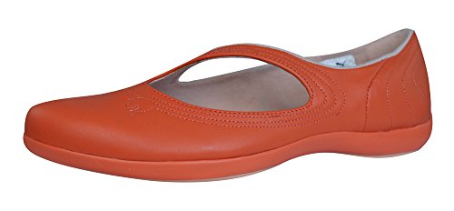 Galaxy Pumps (Puma Vitta L Womens Leather Ballet Pumps / Shoes - Red Coral-Red-6.5)
