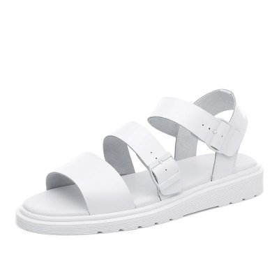 Xing Lin Ladies Sandals Summer Couple Models Flat Sandals Women At The End Of England Dr Martin Sandals Tide White male models ZyyUiE8UJ