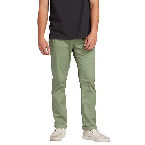 (Volcom Men's Frickin Modern Fit Stretch Chino Pant, Faded Army 30)