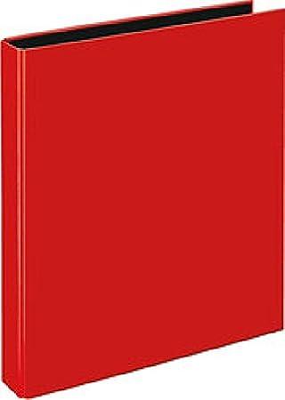 Anillo libro Velocolor A4 color rojo claro, de 4 anillas D de Mech ...