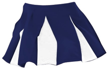 Alleson Athletic Girls Cheerleading Multi Pleat Skirt, Color: NAWH, Size: M (C201MY-NAWH-M) ()