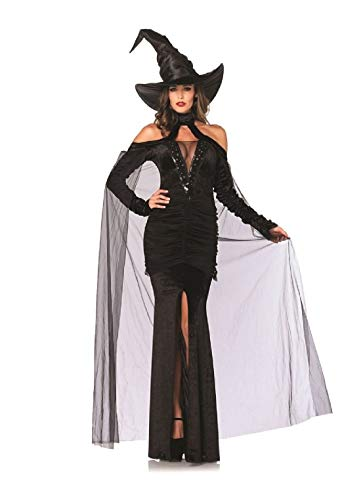 Sultry Sorceress Adult Womens Costume Halloween Sexy Witch Elegant Fancy -