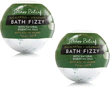 Bath and Body Works 2 Pack Aromatherapy Stress Relief (Eucalyptus & Spearmint) Bath Fizzy. 4.6 Oz from Bath & Body Works