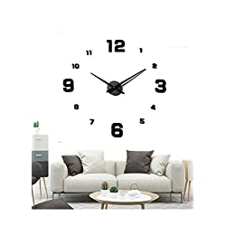EONPOW Large Modern 3D Frameless DIY Wall Clock Mute Mirror Stickers Decoration for Living Room Bedroom