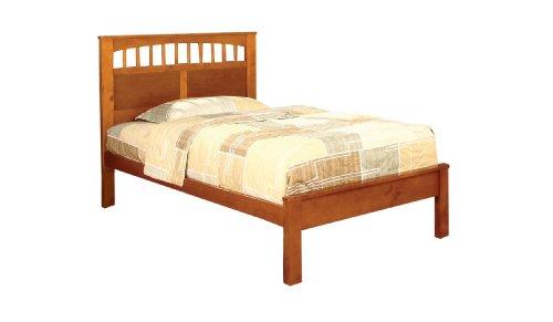 Furniture of America Ryder Casual Oak Platform Bed, Twin