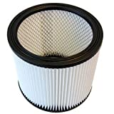Micro-Lined Cartridge Filter Designed to fit Shop-Vac 90304 & Emerson VF2007