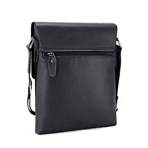 Leather Black Shoulder Men's Bag Pu Lanxi qgwAvA
