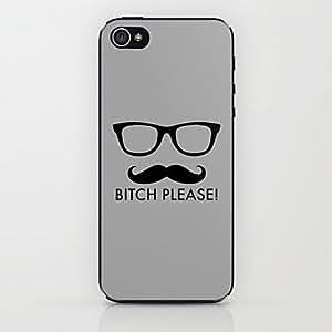 ZXM- Barba gafas caso duro del patrón para el iphone 5 / 5s