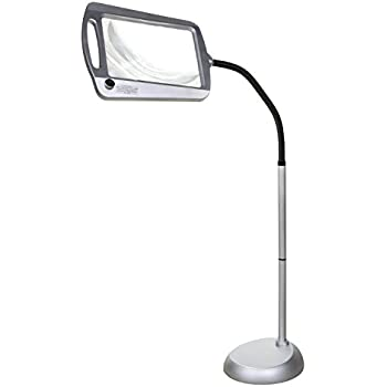 Amazon Com Magnifying Floor Reading Lamp 5x Full Page Health Amp Personal Care