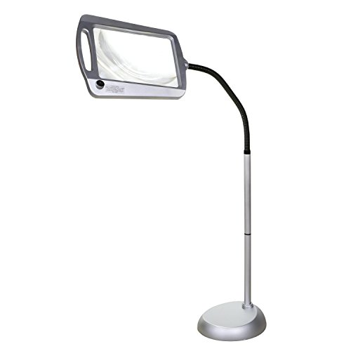 - Full-Page Floor Magnifying Lamp - Silver