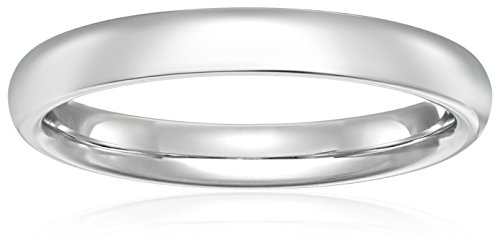 Standard Comfort-Fit Palladium Band, 3mm, Size 7.5 -