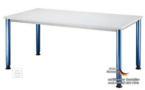 B Ro Schreibtisch B Rotisch Lichtgrau Blau 160cm Hs