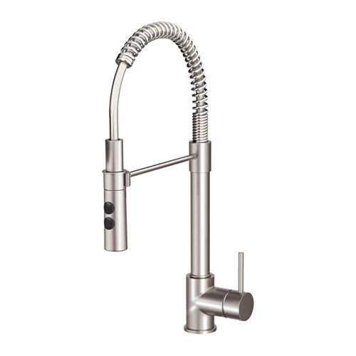 Ikea Kitchen faucet with handspray, stainless steel color...