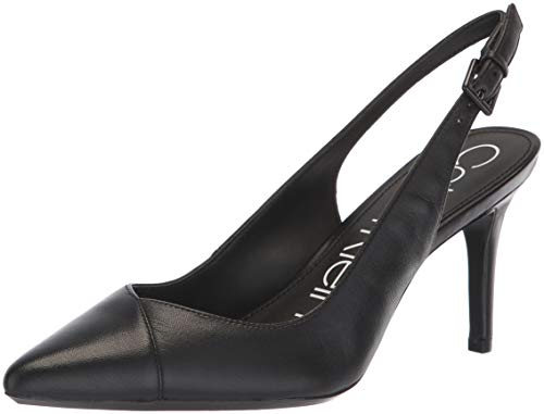 Calvin Klein Women's Gwenith Pump, Black, 6.5 Medium US