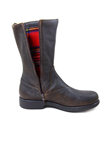 PINSK2582MJ Leather Nose Boots Coffee Beautiful qtBXfww