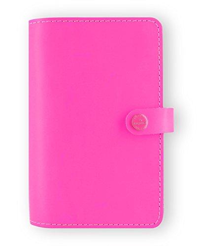 Filofax The Original Personal Leather Organizer Fluro Pink 2016 + 2017 Calendars With DiLoro Jot Pad Refill 022431