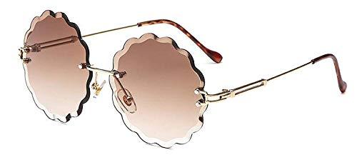 Sunglasses Round Stylish Designer Gradient Sun Glasses Women Retro Flower Shaped Sunglass -