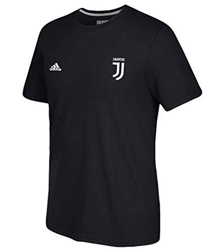 adidas Cristiano Ronaldo Juventus F.C. Men's Black Name and Number T-Shirt XX-Large