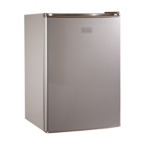 BLACK+DECKER BCRK25V Compact Refrigerator Energy Star Single Door Mini Fridge with Freezer, 2.5 Cubic Feet, VCM