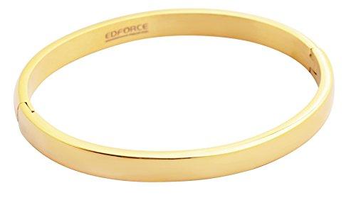 Stainless Steel Tri-color Bangle Bracelets for Women 3-piece Set - 3