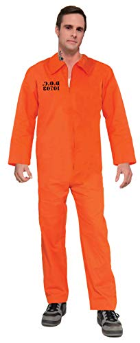 Jail Jumpsuit Costume (Forum Novelties Adult Orange Prison Suit Unisex)