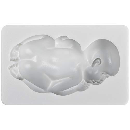 Funshowcase Large Sleeping Baby Silicone Mold for Cake Decoration Candy Soap Making ()