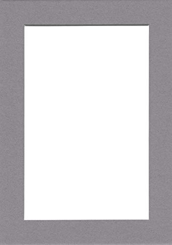 for 4x6 Pictures Pack of 5 8x10 Cream Picture Mats with White Core