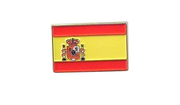 España Bandera española Metal Esmalte Solapa Pin Insignia: Amazon ...