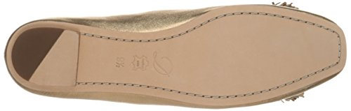 Gold Ballet WM Womens Delman Light Washed Metallic Flat Frill D 7UIUqT0x