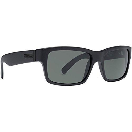 VonZipper Fulton Shift Into Neutral Men's Sportswear Sunglasses/Eyewear - Color: Black Satin/Grey, Size: One Size Fits - Fulton Sunglasses