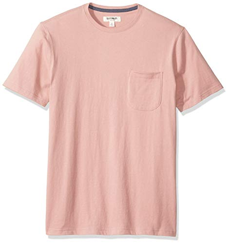 (Goodthreads Men's Short-Sleeve Sueded Jersey Crewneck Pocket T-Shirt, Pink, Medium)