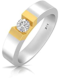 8df7d8917a 14K Gold with 0.32 Carats Glowing crown couple solitaire ring for him -  RM1302