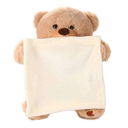 - Lioder 30cm Peek a Boo Bear Cartoon Plush Toy Cute Music Bear Doll Kids Birthday Gift