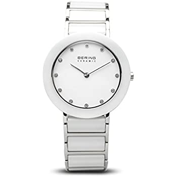BERING Time 11435-754 Womens Ceramic Collection Watch with Stainless steel Band and scratch resistant sapphire crystal. Designed in Denmark.