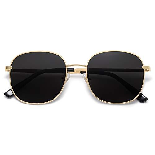 SOJOS Classic Women Sunglasses Flat Mirrored Lenses Spring Hinge AURORA SJ1137