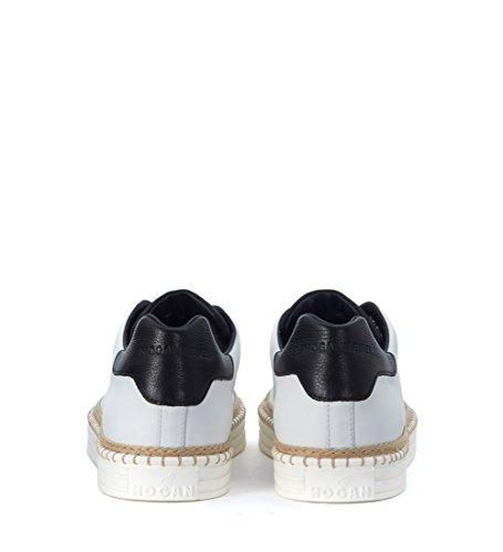 Sneaker Hogan Rebel R260 en piel blanca detalle cuerda Blanco