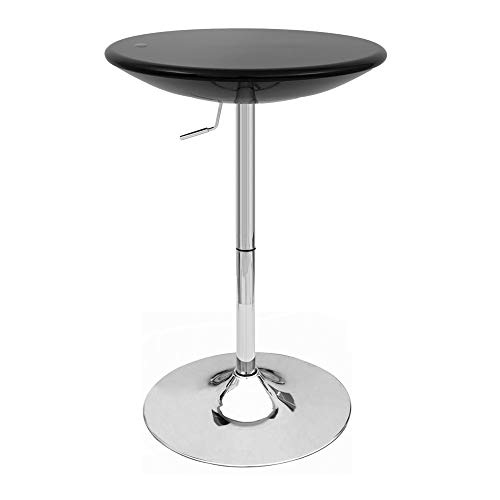 Modern Home Alpha Contemporary Adjustable Bar Table, Set of 4, Black Licorice