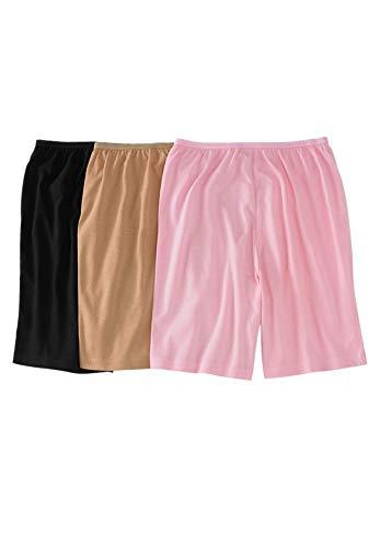 Comfort Choice Women's Plus Size 3-Pack Cotton Boxer - Basic Pack, 11 (Plus Size Womens Boxers)