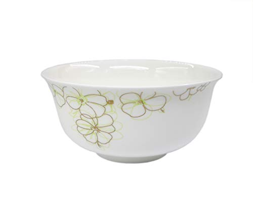 MayCan 5 Pieces Thin & Lightweight China Bowl, for Rice, Soup, Fruit Cheese, Milk and Yogurt, 4.5 inches, 5 Sets