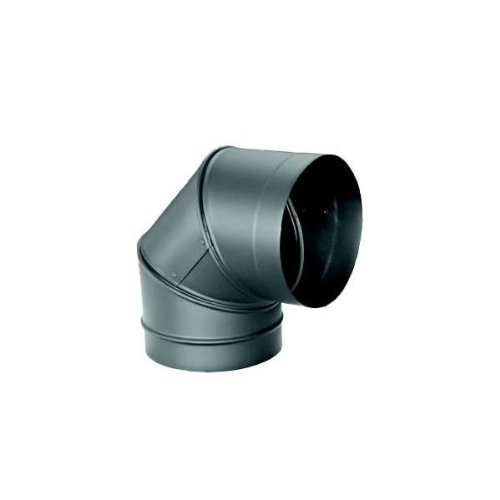 7 inch black stove pipe elbow - 9