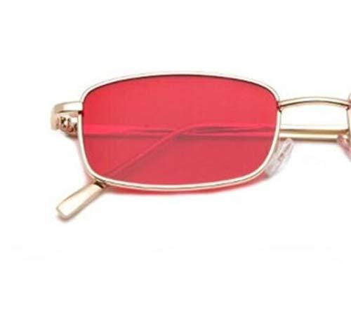 de protección metal de UV400 Red mujer de Gafas para los conducir de sol para de para hombres gafas Gafas viajar para moda XSxPZ