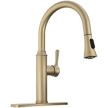 Peppermint Kitchen Sink Faucet Matte Champagne Bronze