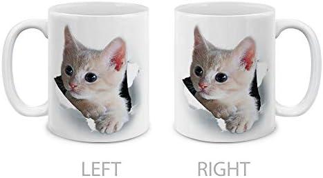 Mugbrew Animal Big Eyes Curious Gray Cat White Ceramic Coffee Mug Tea Cup 11 Oz Sbmug0002 A4786 Buy Online At Best Price In Uae Amazon Ae