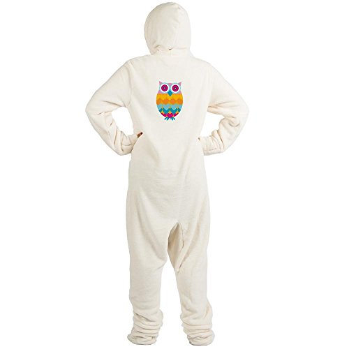 CafePress - Toy Colored Owl Bird - Novelty Footed Pajamas, Funny Adult One-Piece PJ (Toy Story Pajama Adult)